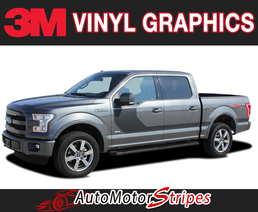 2015-2018 FORD F-150 SIDELINE SPECIAL EDITION APPEARANCE PACKAGE STYLE HOCKEY STRIPE VINYL DECAL 3M GRAPHIC